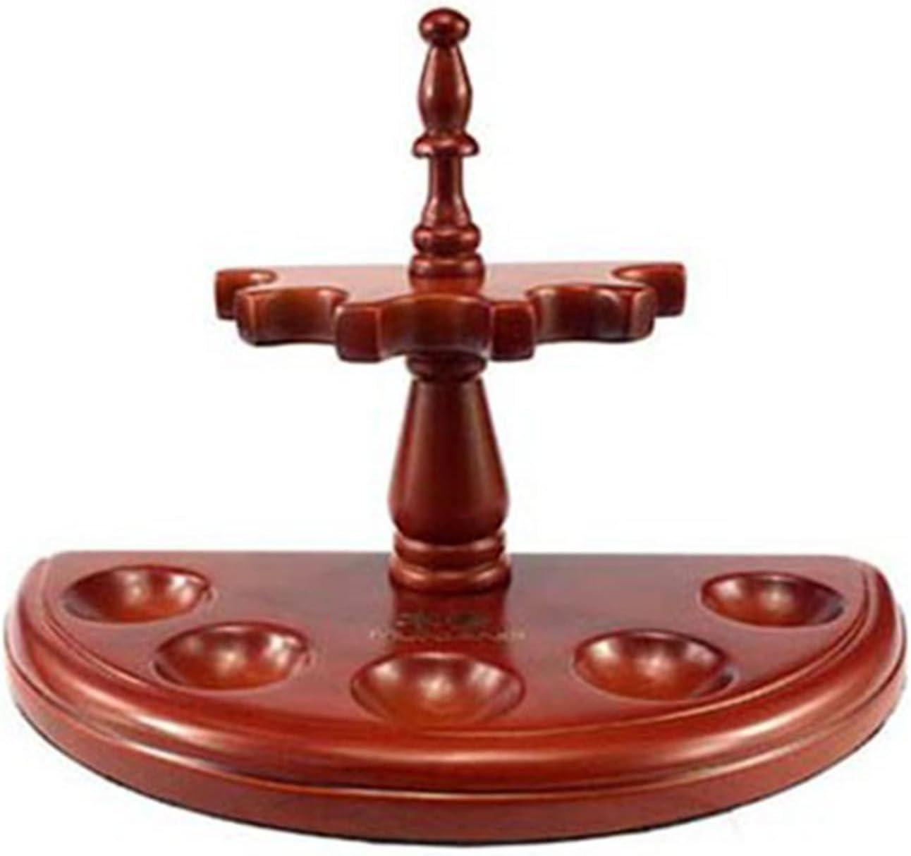 Soporte de Madera Maciza Pipero Porta Pipas Circular Color Caoba Cachimba 4634