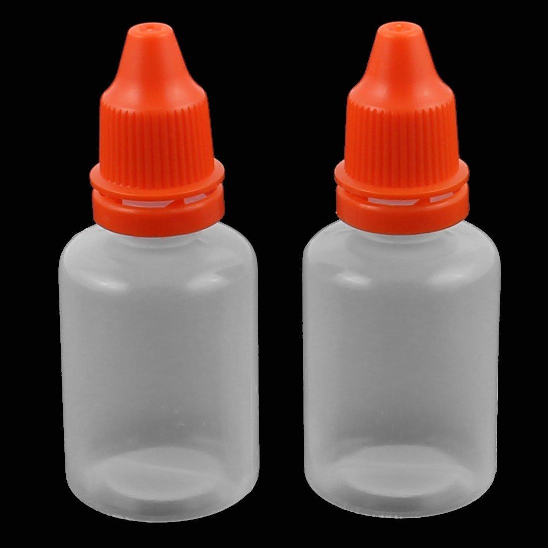 Botella eDealMax 2pcs 20 ml Con gotero de plástico transparente gota de ojos líquido Squeezable casquillo Rojo vacío: Amazon.com: Industrial & Scientific