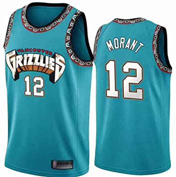 LCY Hombres Jersey Baloncesto - NBA Jersey Grizzlies ° 12 Mangas ...