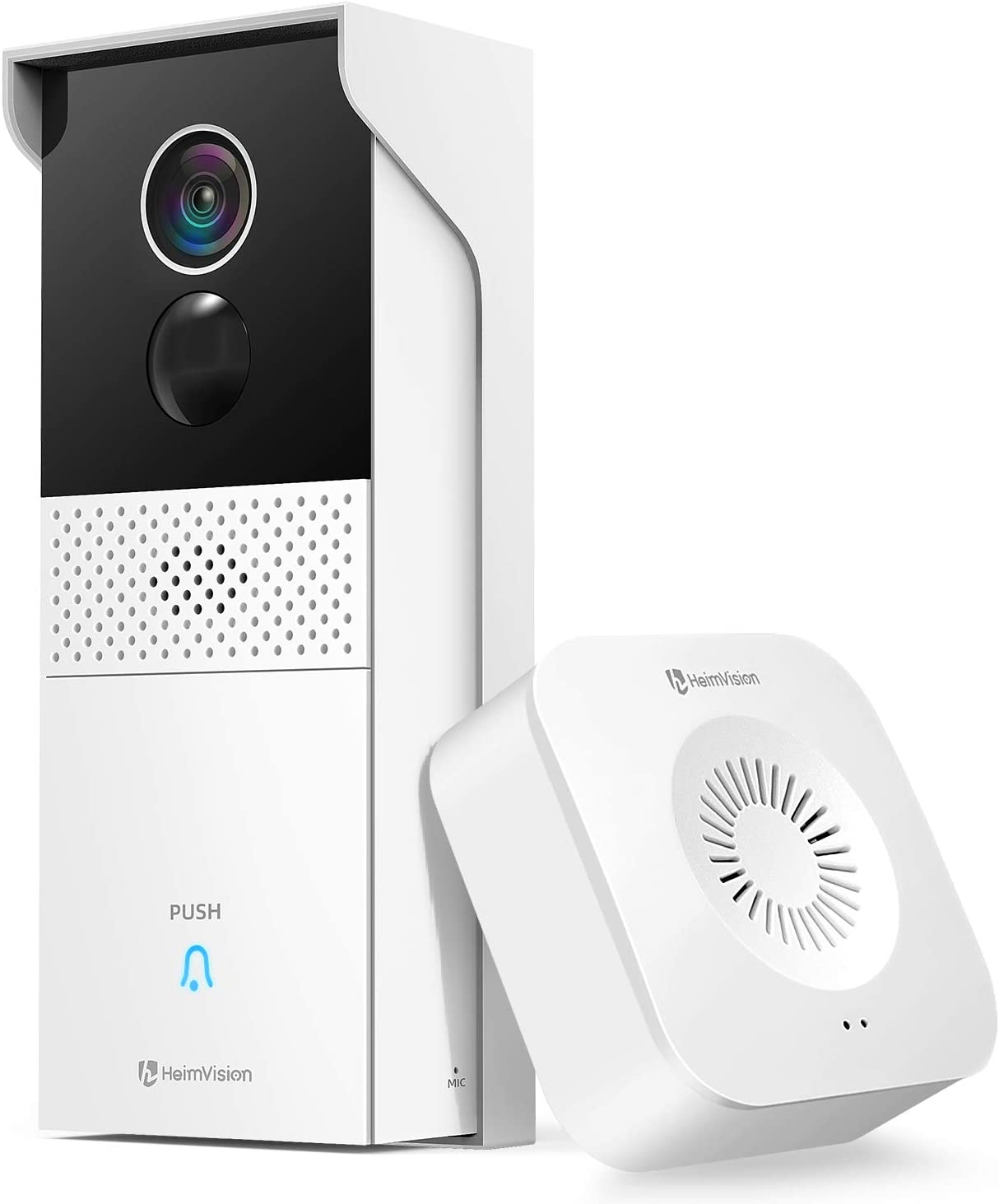 HeimVision Video Doorbell Camera, Battery-Powered Doorbell + Wireless Chime, Motion Activated Alerts, 1080P Wider View, 2-Way Audio, Remote Access, Night Vision, 2-Storage Options, Weatherproof, HMB1