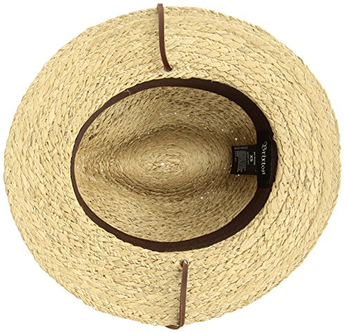 Brixton Men s Levon Short Brim Straw Fedora Hat Newsie Cap  Amazon.co.uk   Clothing 4dc374ae44f