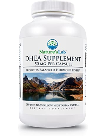 Natures Lab DHEA Capsules, 50 mg, 300 Count – Powerful Antioxidant and Hormone Regulator