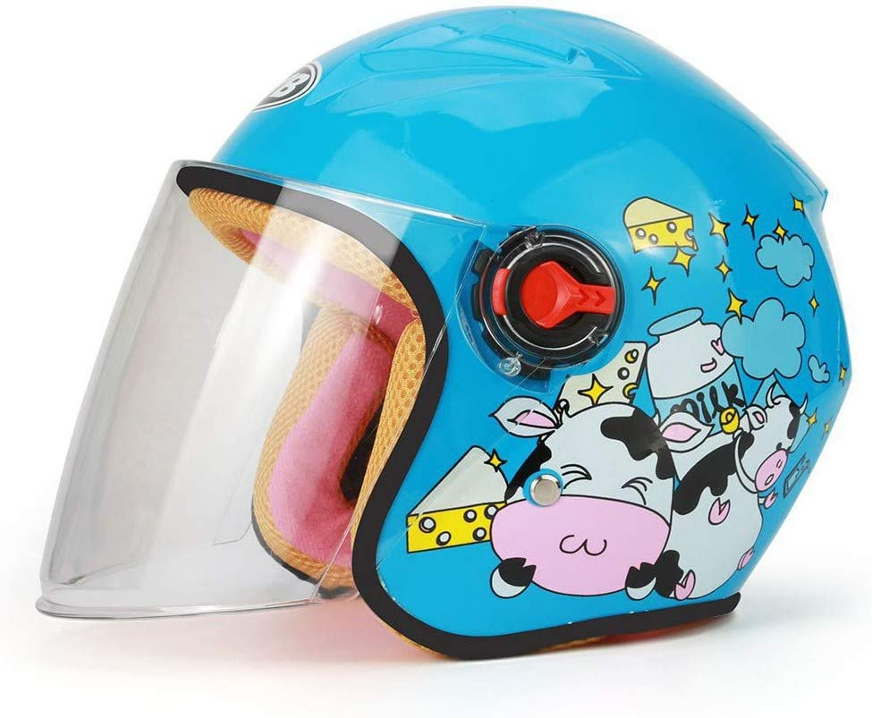 YAJAN-helmet Jethelm Motorradhelm,Motorradhelm f/ür Kinder,CE-Zertifizierung M/änner und Frauen Baby Motorrad Roller Offenes Jet Helm Passend f/ür 46-52cm