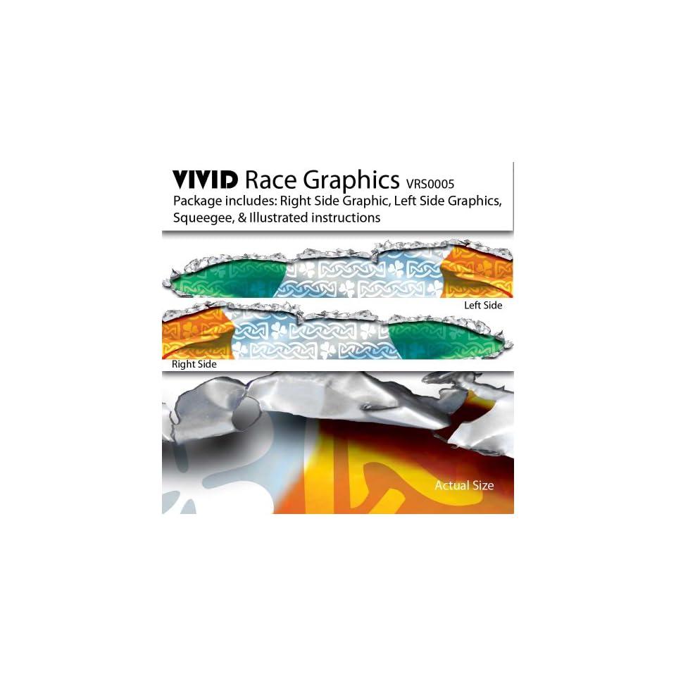 VIVID Irish Flag Race Car Graphics/Decal