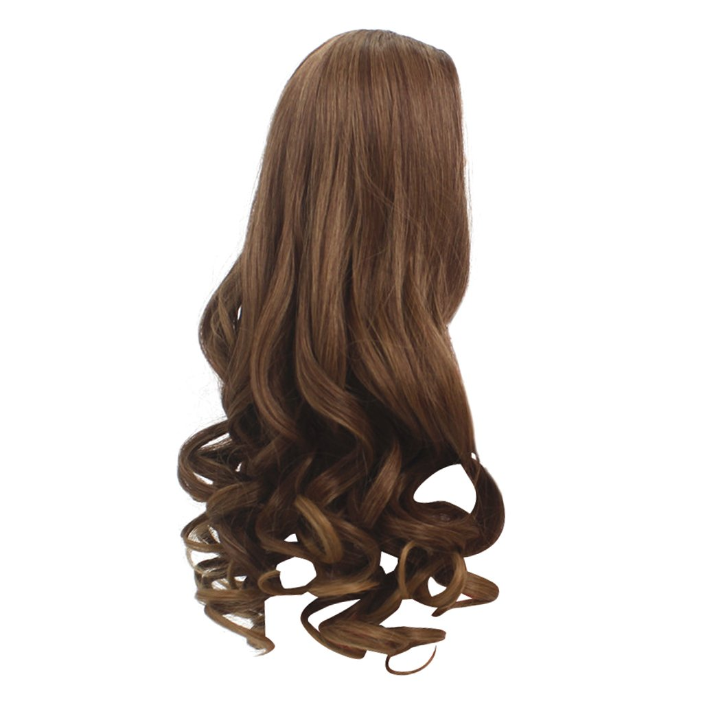 MagiDeal Brown Long Fluffy Wavy Replacement Wigs for 18'' American Girl Dolls DIY Making Supplies