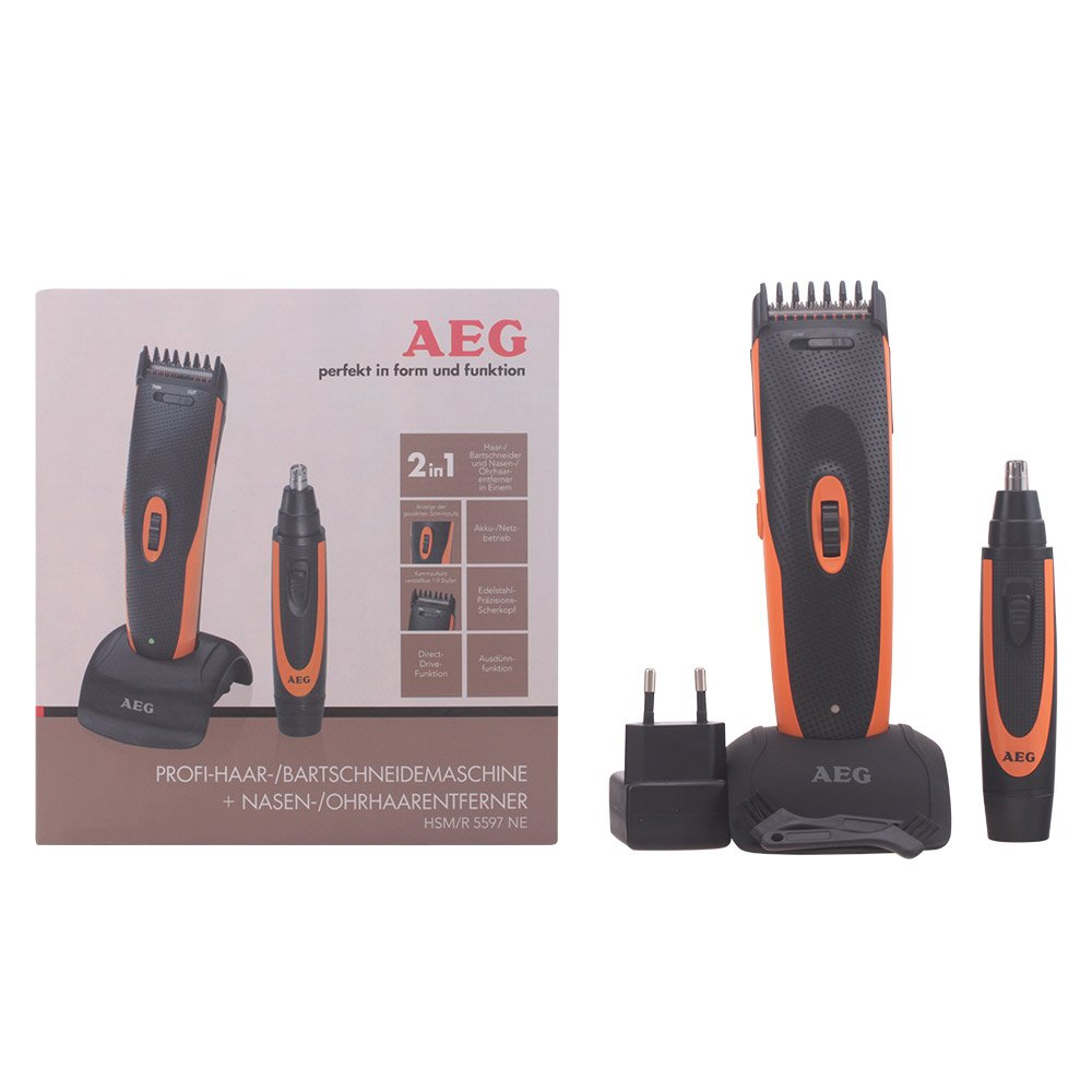 aeg hsm r 5597 ne hair and beard trimmer with nose