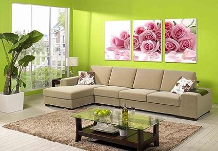 Max Home@ Modern minimalista rose rosa floreali soggiorno in ...