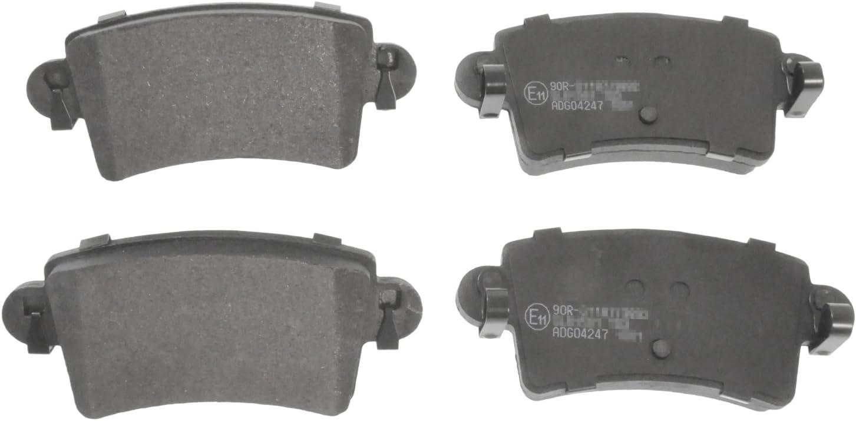 Blue Print ADG04247 Bremsbelagsatz hinten, 4 Bremsbel/äge