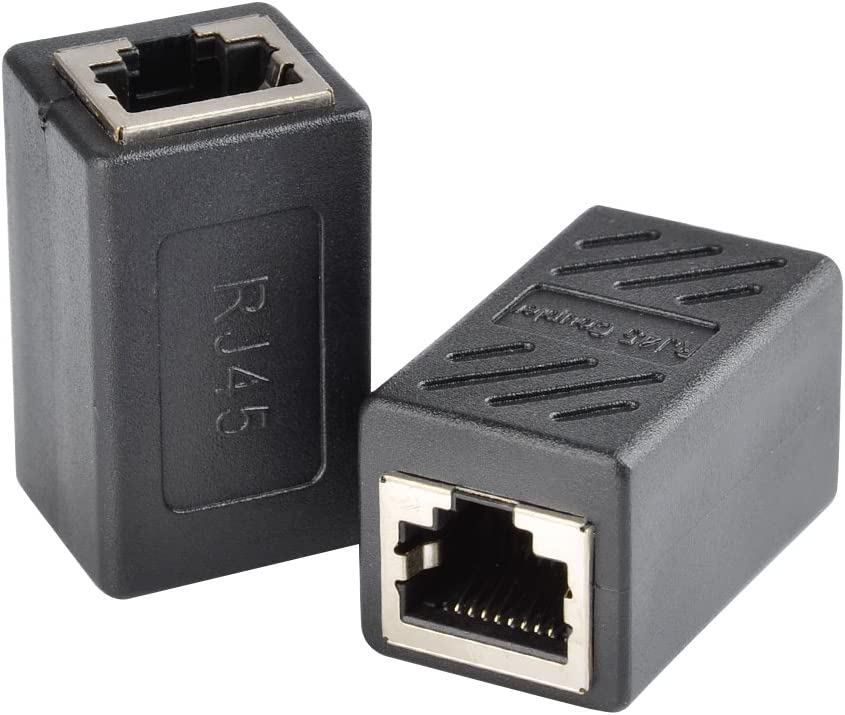 ATPWONZ Cat7//Cat6//Cat5e RJ45 Coupler 5 Pack Female to male Coupler Ethernet Cable Extender Adapter Black