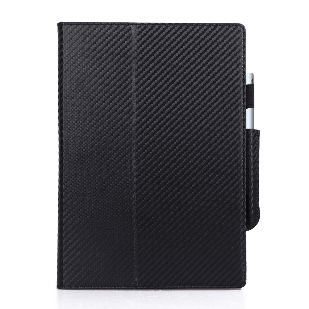 Black Hand Strap and Elastic Strap ISIN Premium Carbon Fiber Texture Protective Case Stand Cover for reMarkable 10.3 Digital Notepad E-reader Paper Tablet with Stylus Holder
