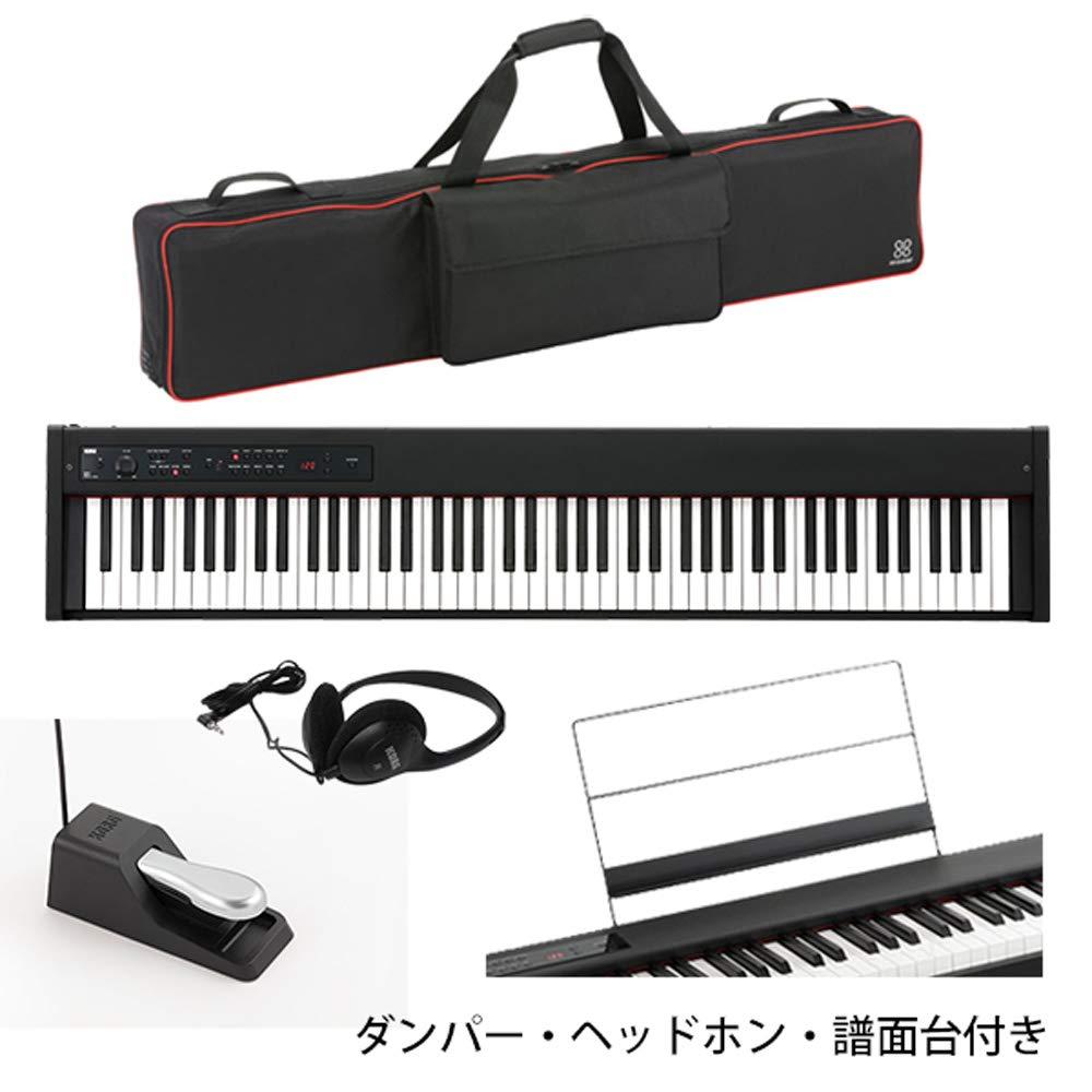 【専用バッグセット】 Korg(コルグ) / D1 スピーカーレス デジタルピアノ 「譜面立てダンパーペダルヘッドホン付き」   B07LCL1H68