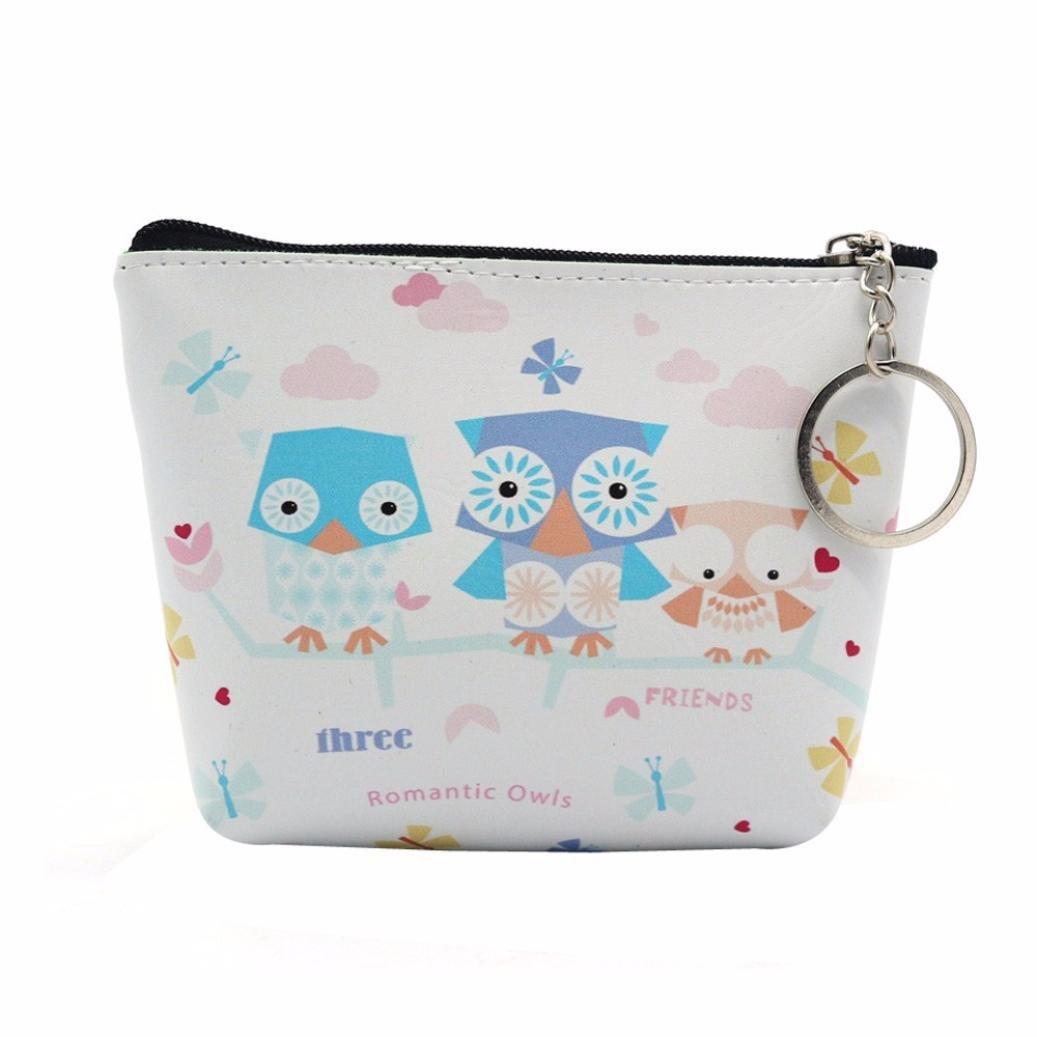 Kingfansion Womens Wallet Card Holder Coin Purse Clutch Handbag (White 5)