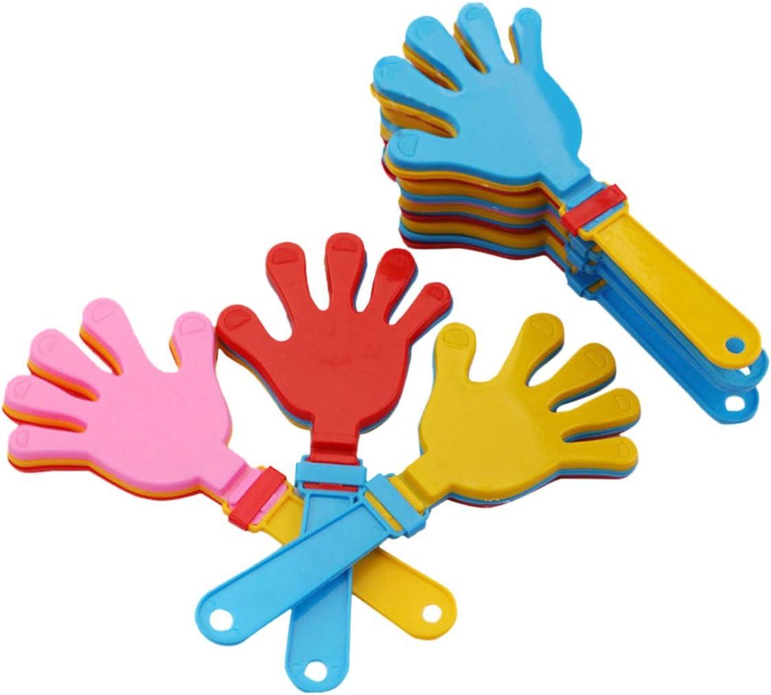 Toyvian Juguete de palmas del niño plástica mano Juguete de fabricación de ruido