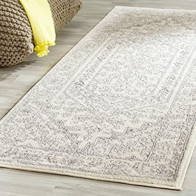 """Safavieh Adirondack Collection ADR108B Ivory and Silver Oriental Vintage Medallion Area Rug (2'6"""" x 4') - Safavieh's chic and versatile Adirondack rug with 1,500+ customer reviews Charming oriental inspired transitional pattern with a central medallion Refined power loomed construction and enhanced polypropylene fibers ensure an easy care and virtually non shedding rug - living-room-soft-furnishings, living-room, area-rugs - 61WiVzHKVjL. SS400  -"""