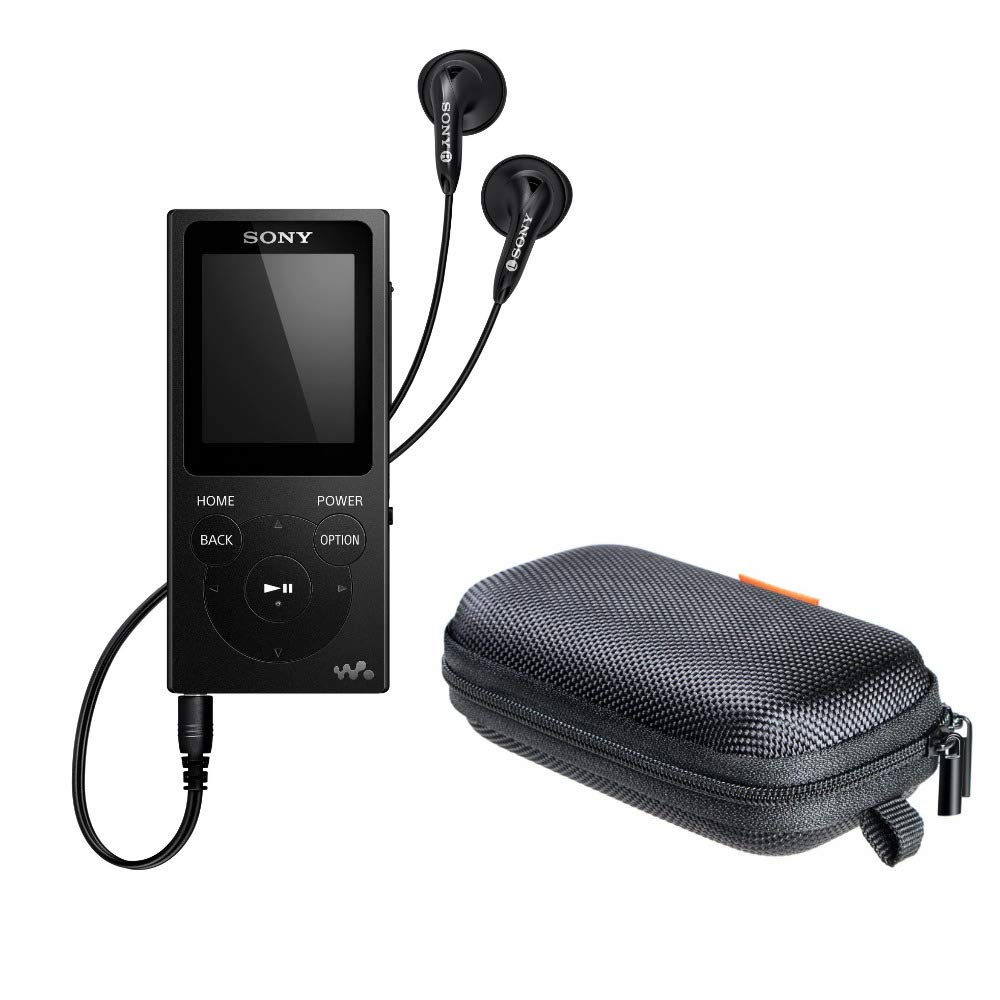 Sony NWE393/B 4GB Walkman MP3 Player (Black) with Hard Carrying case by Sony (Image #1)
