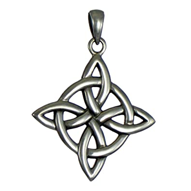 Amazon sterling silver celtic quaternary witches knot pendant sterling silver celtic quaternary witches knot pendant for men or women jewelry mozeypictures Image collections