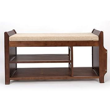 Amazon.com: Bocca - Banco de zapatero de bambú extraíble ...