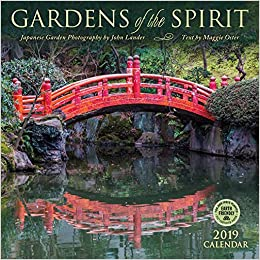 gardens of the spirit 2019 wall calendar japanese garden photography