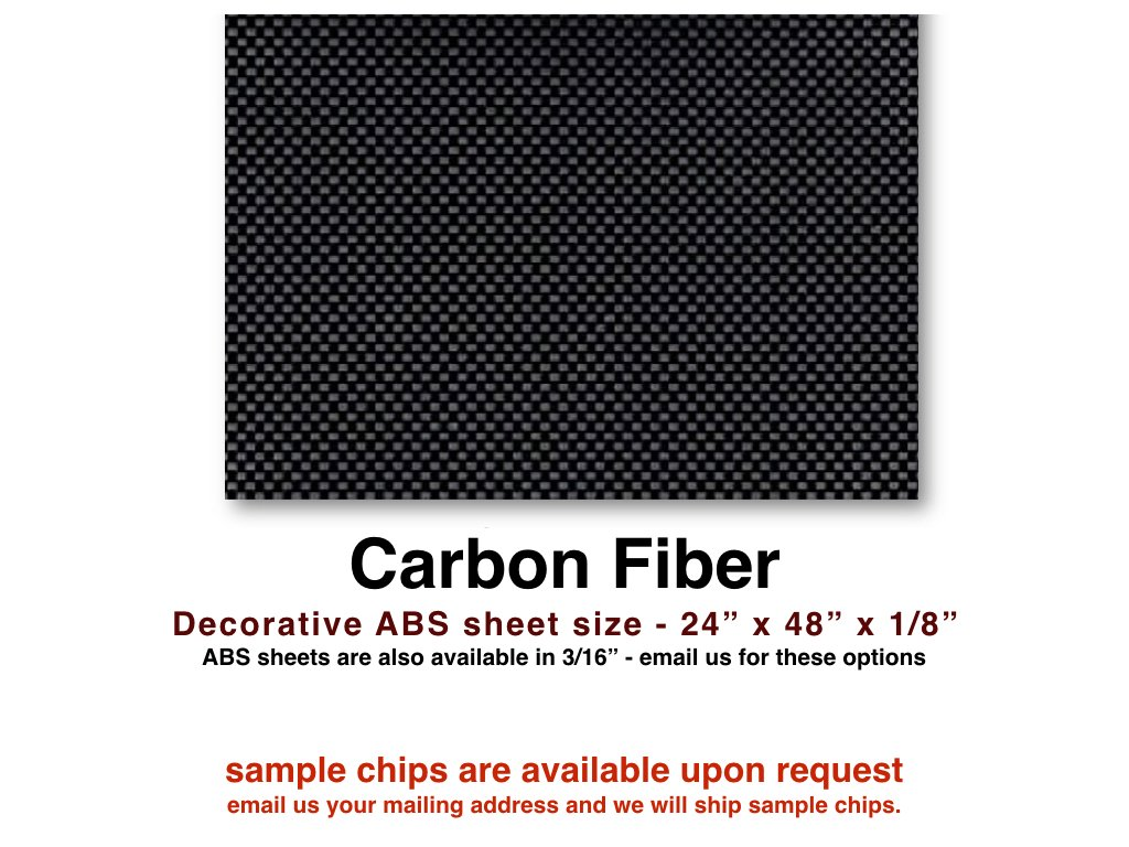 """Carbon Fiber ABS sheet for boat instrument panels 24"""" x 48"""" x 1/8"""""""