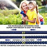 WOVUU Garden Hose Expandable 100FT,Flexible Durable Water Hose with 10 Spray Hose Nozzle/Self-Locking Leakproof Self-installion/Lightweight No-Kink/3750D Fabric/3-Layers Latex/3/4 Solid Brass