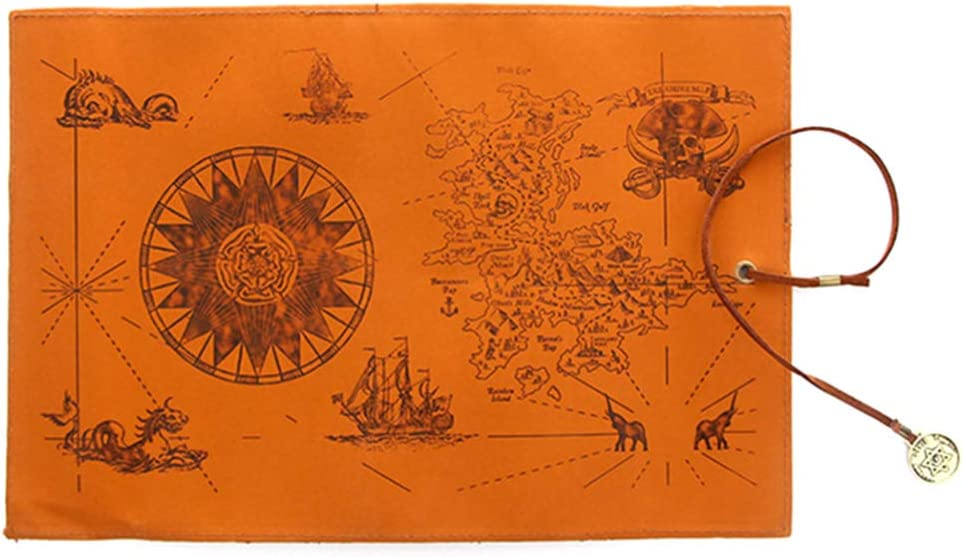 Toyvian Pluma Envoltura papelería Retro Pirata Tesoro Mapa patrón Pluma Organizador: Amazon.es: Juguetes y juegos