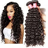 Longqi Brazilian Deep Wave Bundles 7a Unprocessed Virgin Deep Curly Hair 3 Bundles Remy Human Hair Weaves (22 24 26inch, Natural Color) Review