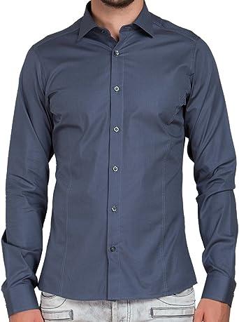 Red Bridge - Camisa para hombre de mangas largas, corte estrecho, diseño básico: Amazon.es: Ropa y accesorios