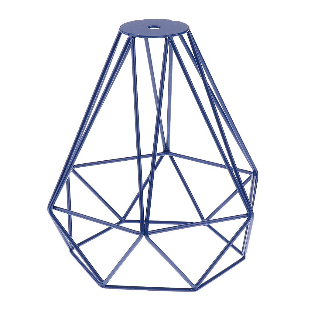 MagiDeal Vintage Metall Diamant Form Anhänger Deckenleuchte Lampe Käfig Lampenschirm Dekor - Gold Generic