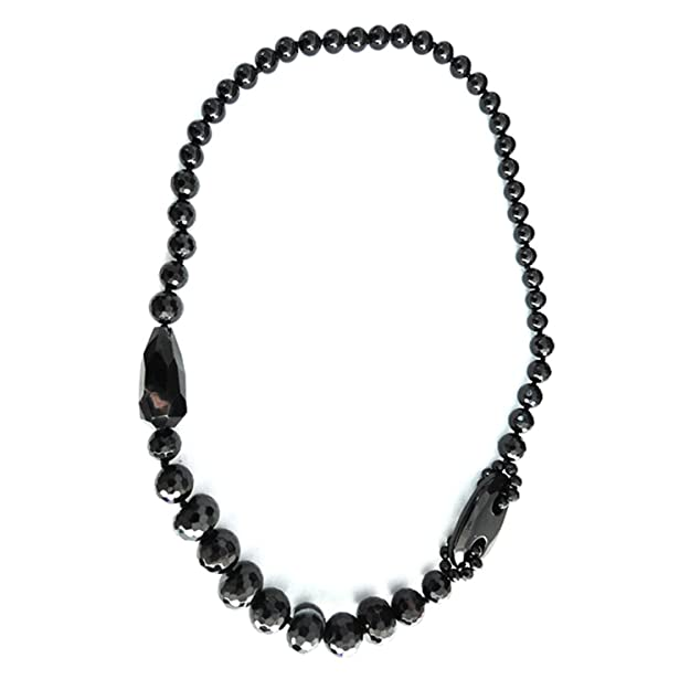 "Pearlz Ocean Black Agate 30"" Designer Endless Necklace Women at amazon"