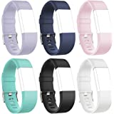 RedTaro Replacement Bands for Fitbit Charge 2 Small Large(Pack of 6)