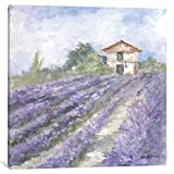 iCanvasART DEB16-1PC6-12x12 iCanvas French Farmhouse Series: Lavender Fields Gallery Wrapped Canvas Art Print by Debi Coules, 12'' X 1.5'' X 12''