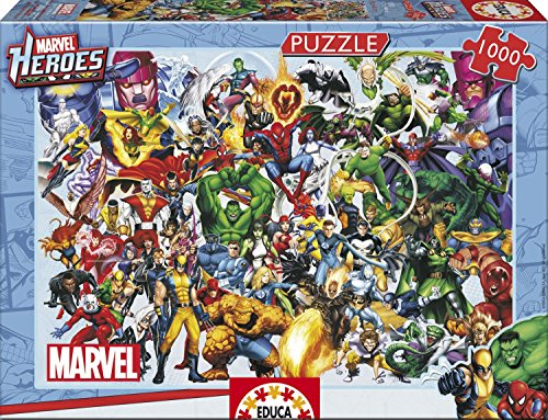 (Marvel Heroes 1000 Piece Professional Puzzle 68 cm x 48 cm All Heroes Ages 12+)