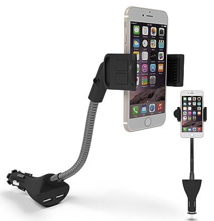 Amazon.com: Car Phone Holder, Te-Rich Car Mount Dual USB Charger ...