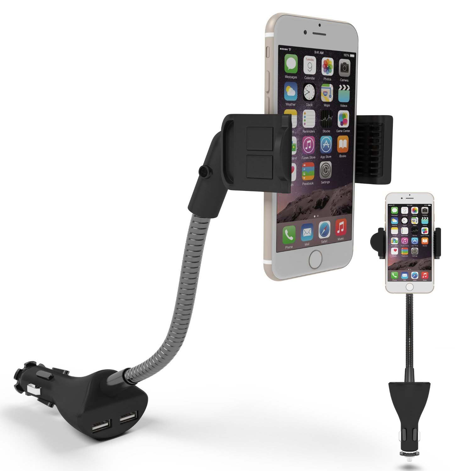 car iphone holder car phone holder te rich car mount dual usb charger 10338