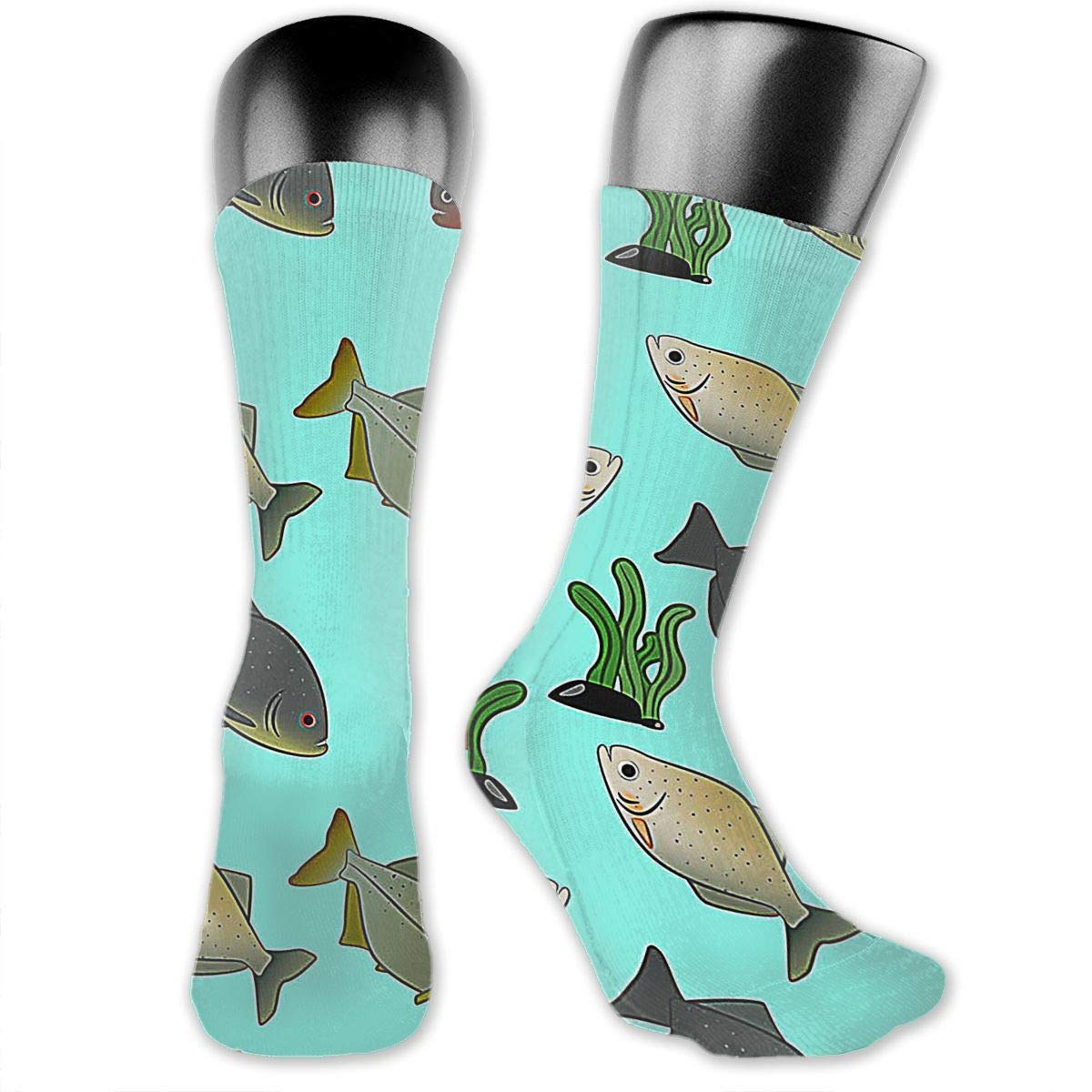 OLGCZM Piranha Pattern Free Men Womens Thin High Ankle Casual Socks Fit Outdoor Hiking Trail