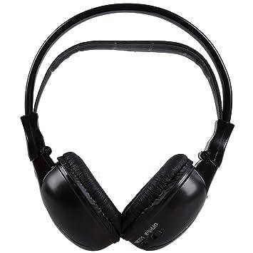 Cikuso Auriculares inalambricos de Infrarrojo Estereo Doble Canal Auriculares IR reposacabezas de Coches o Reproductor DVD Negro: Amazon.es: Electrónica