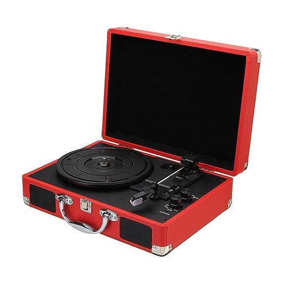 TOOGOO Enchufe de La UE 33/45/78 RPM Bluetooth Portátil Giradiscos ...