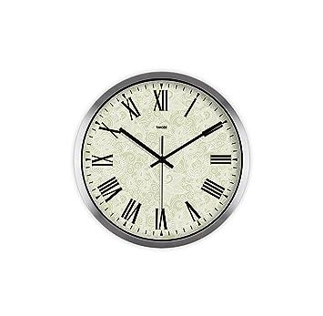 Amazon.de: Wall Clock Runde kreative Uhr europäischen Stille große ...