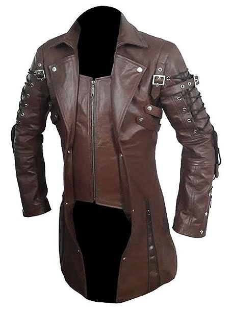 Amazon.com: LKT - Chaqueta de piel para hombre, diseño ...