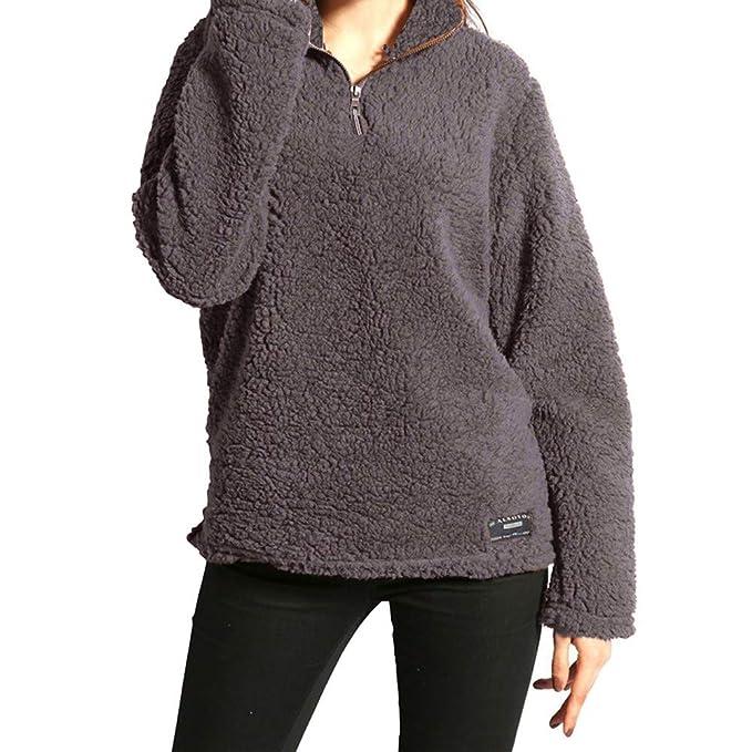 Milktea Damen Blusen Tops T Shirt Langarmshirts Winter Warm