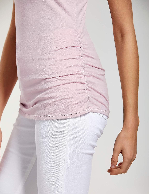 Gratlin Femme Top de Maternit/é T-Shirt dallaitement de Grossesse sans Manches