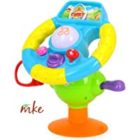 MKE Musical Baby Toddler Driving Toys-Lights, Mirror, Various Driving Activity Sounds