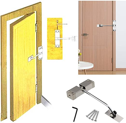 Concealed Door Closer Kit Rated Spring Fire Automatic Closure Adjustable Durable