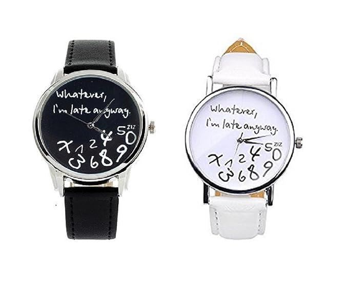 CMJ X2 Whatever I m tarde de todos modos de los relojes negro blanco