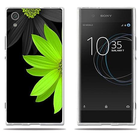 Funda Sony Xperia XA1 Carcasa de Silicona, Fina, Ultra Suave con Cubierta Protectora,Lujoso Dibujo de Medio Crisantemo, FUBAODA, Resistente a los ...