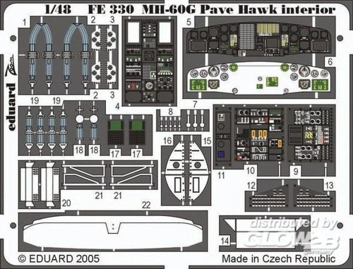 Mh 60 Pave Hawk (MH-60G Pave Hawk Interior for ITA (Painted) 1/48 Eduard)