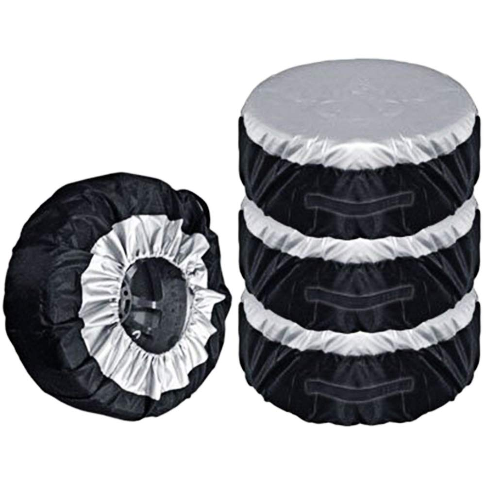 Hicollie Set of 4 Tire Covers,Waterproof Aluminum Film Tire Sun Protectors, Fits 13 to 20 Tire Diameters, Weatherproof Tire Protectors by Hicollie