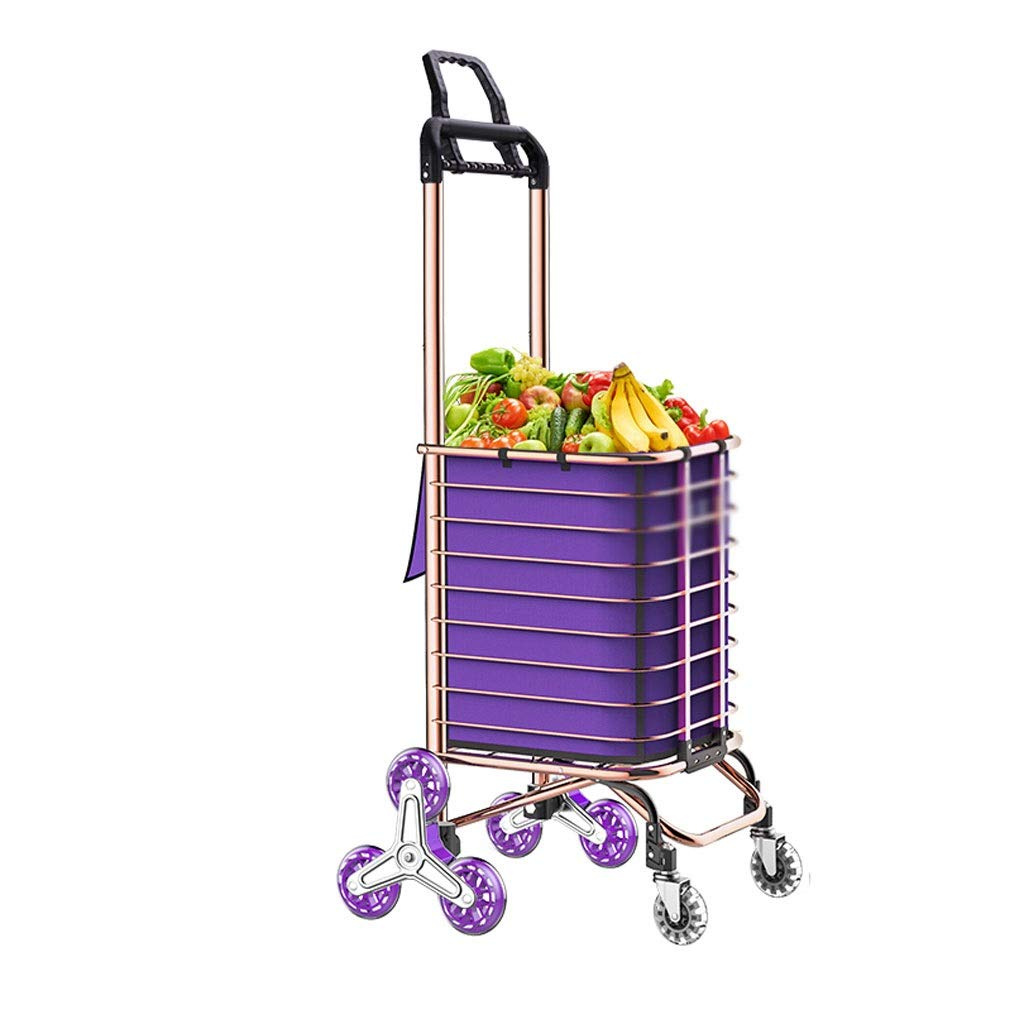 Portable Utility Carts Grocery Shopping Cart Folding Portable Shopping Cart Home Pulling Goods Climbing Stairs Trailer ( Color : A )