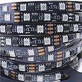 Alarmpore (TM) 5m/16.4ft WS2811 LED Digital Strip LED Pixel Strings DC12V 300LEDs 100ICs 5050 RGB Addressable Not Waterproof Black PCB