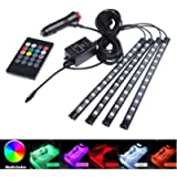 Interior Car Lights, Car Led Strip Light Glow Neon Decoration with Sound Active Function and Wireless Remote Control…